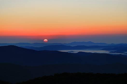 Blue Ride Mountains Sunrise by Carol Montoya