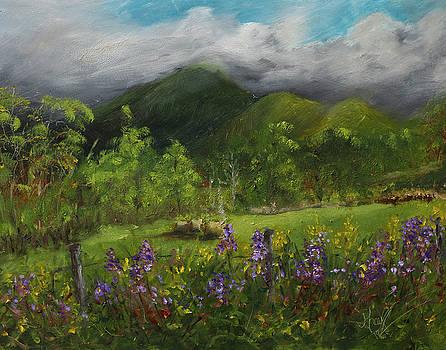 Blue Ridge Mountain Summer Landscape Painting by Gray Artus