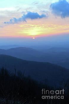 Blue Ridge Mountain Sunrise - Floyd Virginia by Kerri Farley