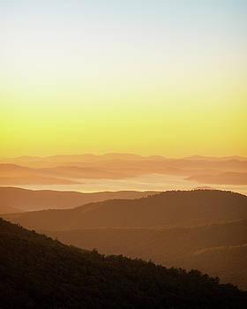 Blue Ridge Mountains Misty Dawn by Scott Masterton