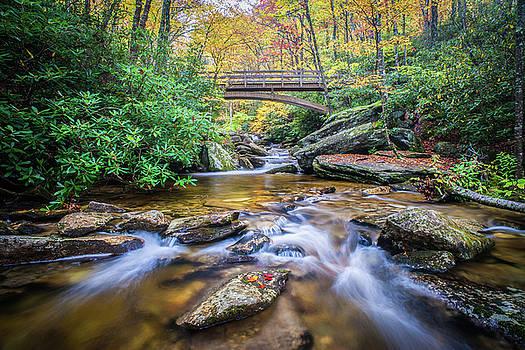 Blue Ridge Mountains NC Boone Fork Cascade by Robert Stephens