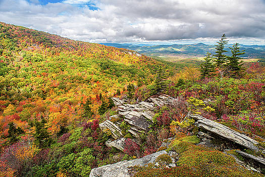 Blue Ridge Mountains NC Cragway Autumn by Robert Stephens
