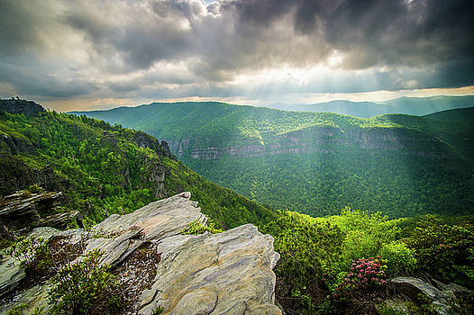 Blue Ridge Mountains NC Gorge-ous Light by Robert Stephens