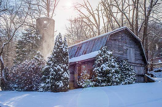 Blue Ridge Mountains NC Maggie Valley Winter Barn by Robert Stephens