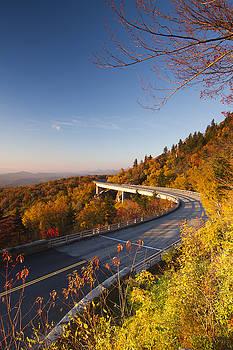 Blue Ridge Parkway Linn Cove Viaduct Fall Colors 2 by Dustin K Ryan