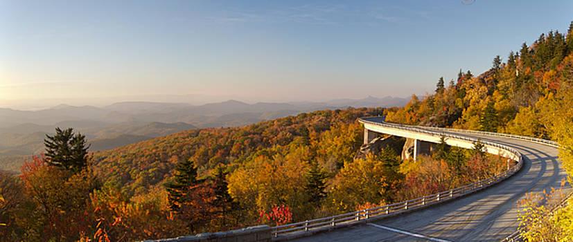 Blue Ridge Parkway Linn Cove Viaduct Fall Colors by Dustin K Ryan
