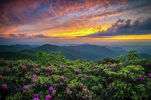 Blue Ridge Parkway NC Blooming Sunset by Robert Stephens