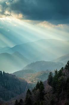 Blue Ridge Parkway NC Blue Light Special by Robert Stephens