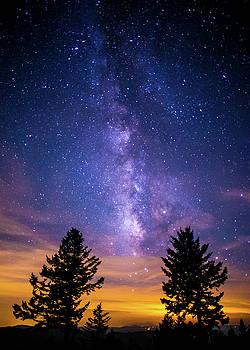 Blue Ridge Parkway NC Milky Way Landscape by Robert Stephens