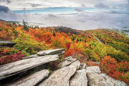 Blue Ridge Parkway NC Rough Ridge Autumn by Robert Stephens