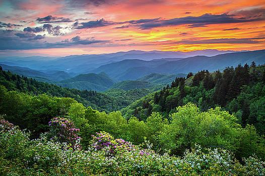 Blue Ridge Parkway NC Spring Kaleidoscope  by Robert Stephens