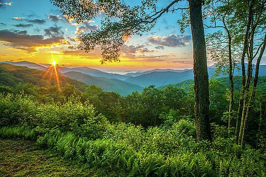 Blue Ridge Parkway NC Sunrise Over Junaluska by Robert Stephens