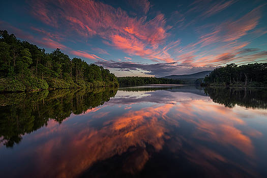 Blue Ridge Parkway - Price Lake Reflections by Jason Penland