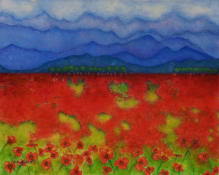 Blue Ridge Poppies by Barb Toland