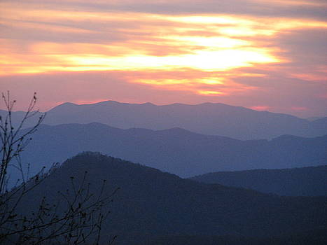 Blue Ridge Sunset  by April Camenisch