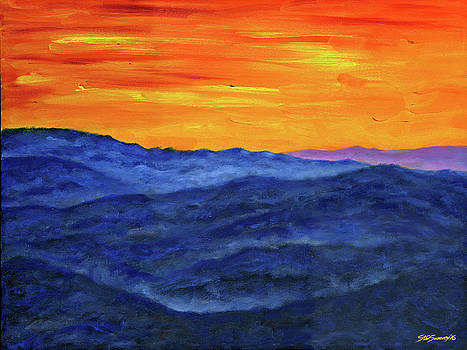 Blue Ridge Sunset by Stan Sweeney
