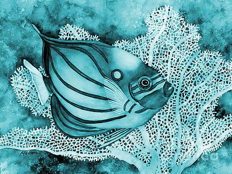 Hailey E Herrera - Blue Ring Angelfish on Blue