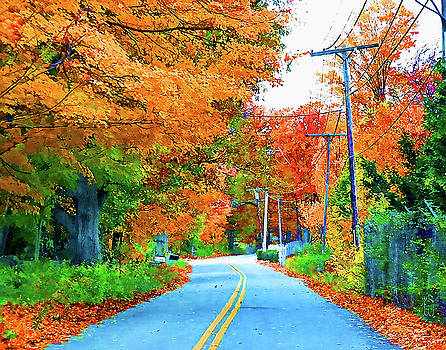Blue Road to Fall by Bruce Wood
