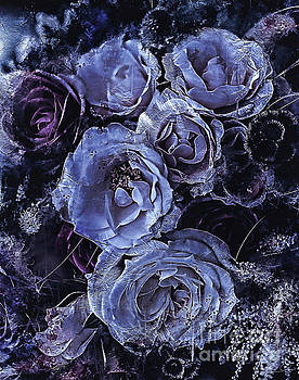 Blue Roses Art by Shanina Conway