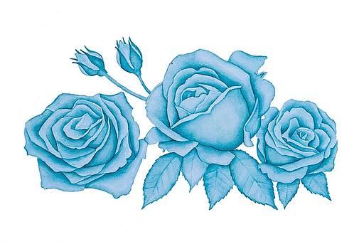 Blue Roses by DK Nagano