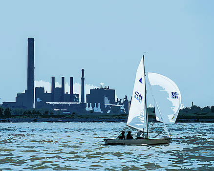 Blue Sailing Lake Erie by Michael Arend