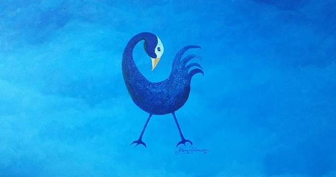 Blue Sankofa  by Greg Roberson