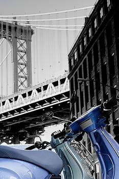 Silvia Bruno - Blue scooter