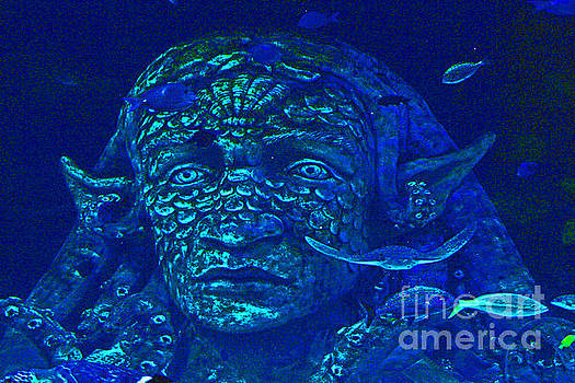 Blue Sea Princess, Under Ocean, 3, Sad, Contemplative by David Frederick