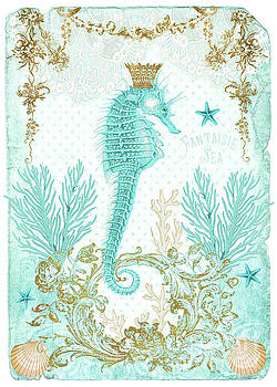 Blue Seahorse by Wendy Paula Patterson