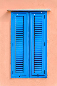 Blue Shutters Cefalu Sicily by Xavier Cardell