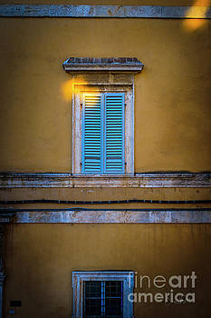 Blue Shutters of Todi by Craig J Satterlee