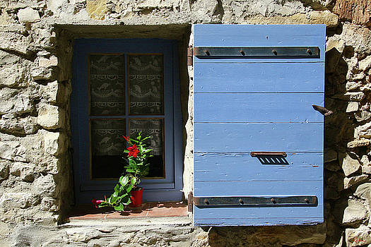 Blue Shutters by Rasma Bertz