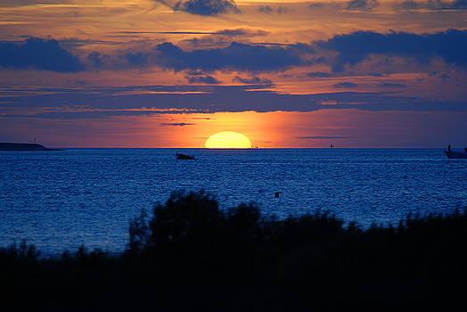 Blue Skies at Sunset by Debbie Morris