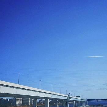 #blue #sky #bluesky #skyblue by Bow Sanpo