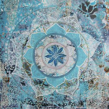 Blue Sky Mandala by Louise Gale