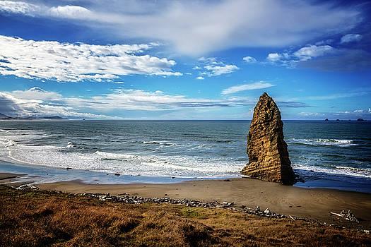 Debra and Dave Vanderlaan - Blue Sky Over the Oregon Coast