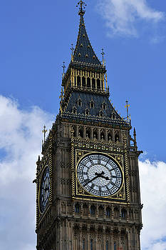Blue Sky with Big Ben by John Holloway