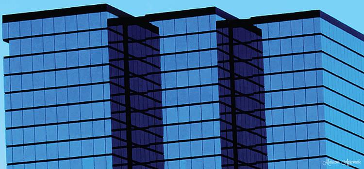 Blue Skyscraper Triumvirate by Mariecor Agravante