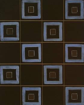 Blue Squares by Sandy Bostelman