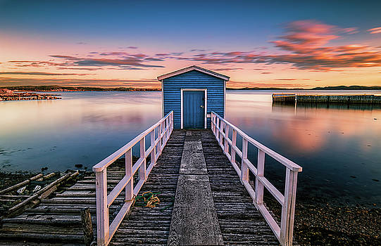 Blue Stage Twillingate by Gord Follett