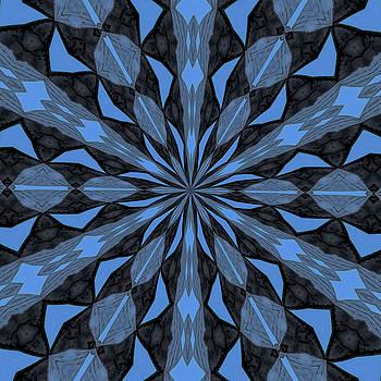Tracey Harrington-Simpson - Blue Steel and Black Fragmented Kaleidoscope