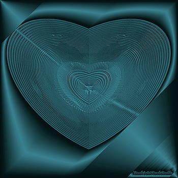 Blue Steel Heart by Visual Artist Frank Bonilla