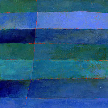 Blue Stripes 3 by Jane Davies