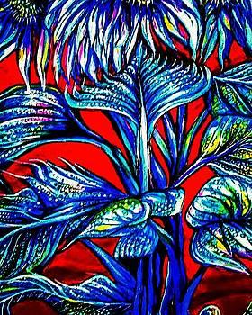 Blue Sunflowers by Arturo Cisneros