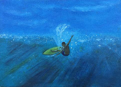 Blue Surf by John Latterner