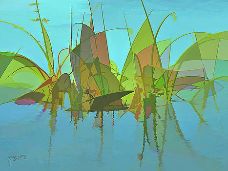 Blue Swamp Abstract by Rosalie Scanlon