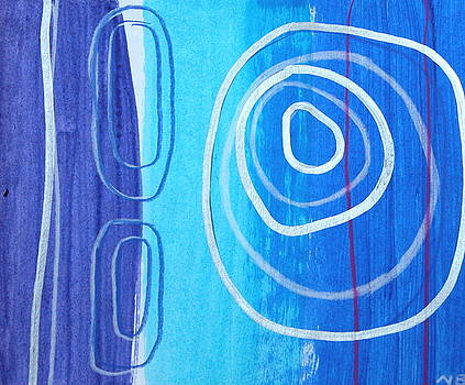 Blue Swirl Number Eleven by Nina Bravo