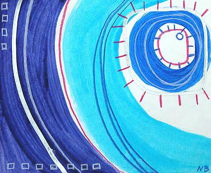 Blue swirl number twelve by Nina Bravo
