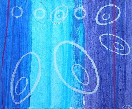 Blue swril number eight by Nina Bravo