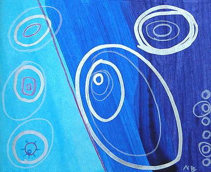Blue swril number four by Nina Bravo